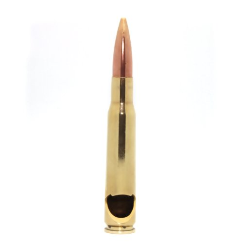 Lucky Shot 50 Caliber Polished Bullet Bottle Opener USA made