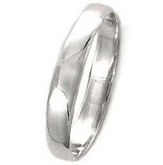 High Polished Sterling Silver 4mm Wedding Band