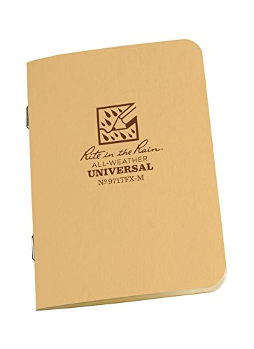 Rite in the Rain Stapled Mini Notebook - Universal - Tan - 3 Pack (Writing In The Rain compare prices)