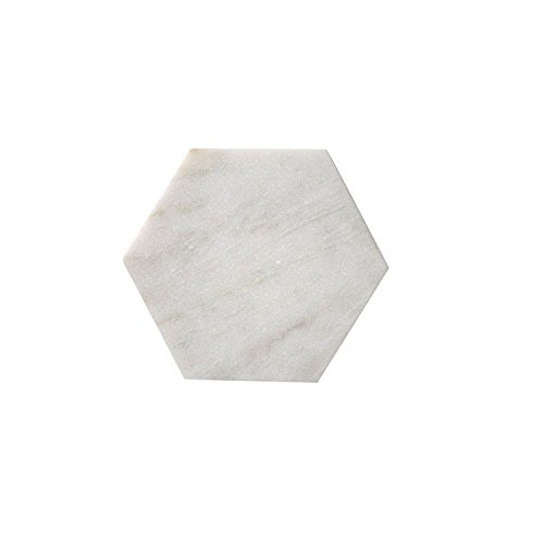 Bloomingville Hexagon Tablett, Marmor (25 x 25 x 1cm) [W]