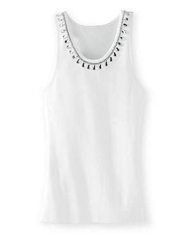 Buy Rhinestone-neck tank