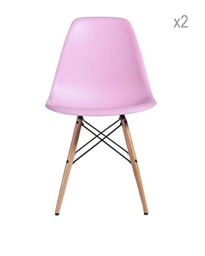 Lo+deModa Set De 2 Sillas Wooden New Color Collection
