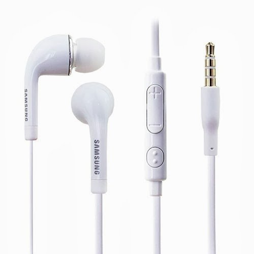 Samsung Oem 3.5Mm Tangle Free Stereo Headset With Microphone For Samsung Galaxy S4/Galaxy S3/Note 3 - Non-Retail Packaging - White