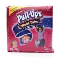 Huggies Pull-Ups Nighttime Training Pants ~24 Training Pants 3T/4T ~For Girls front-955872