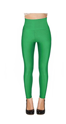 Women High Waisted Shiny Neon Legging (X-large,