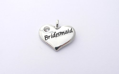 Wedding Heart Charm - Bridesmaid
