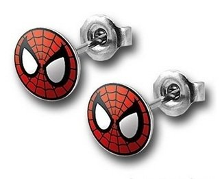1 x Pair of Superhero Earrings- Spiderman [Jewellery]