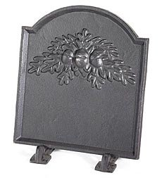 Cheapest Price! Cast Iron Fireback With Oak Leaf Design