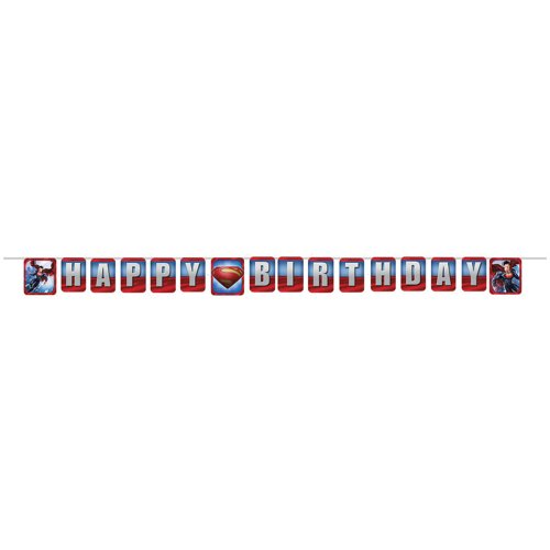 Superman Party Birthday Banner - 1 per Pack