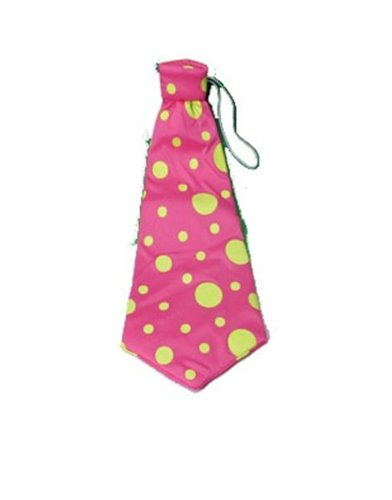 Huge Jumbo Giant Pink Polka Dot Funny Clown Costume Accessory Tie