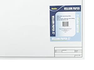 Helix Vellum Sheets, 18 x 24 Inch, 10 Sheets, White (37105)