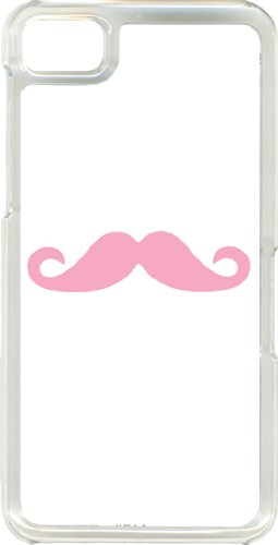 White And Colorful Mustaches On Blackberry Z10 Tpu Clear Hard Case Cover (Baby Pink)