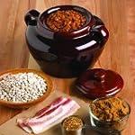 Fox Run 0350 Ceramic Bean Pot, Brown