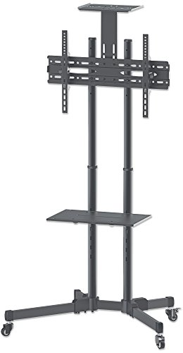 manhattan-461238-universal-tv-stand-on-wheels-basic-line-for-70-inch-37-to-70-inch-tv-black-silver