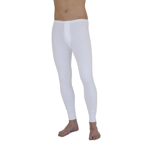 MENS THERMAL UNDERWEAR  LONG JOHN TROUSER ONLY BRUSHED SOFT WARM RIBBED