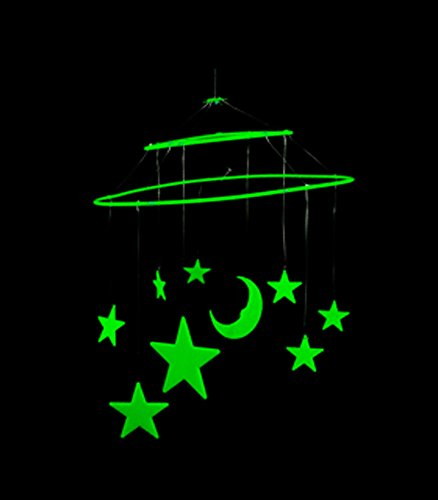 9 Piece Glow in the Dark Star Hanging Mobile - 1