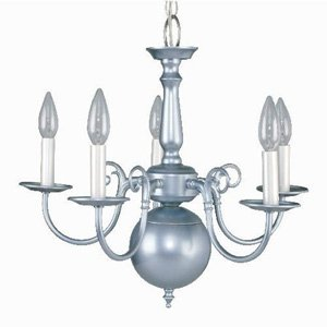 Liz Jordan Lighting Sapphire Mist Colony Mid Sized Chandelier from the Colony Collection-1211SM image