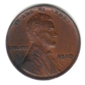 1910 U.S. Lincoln Wheat Ears Cent / Penny
