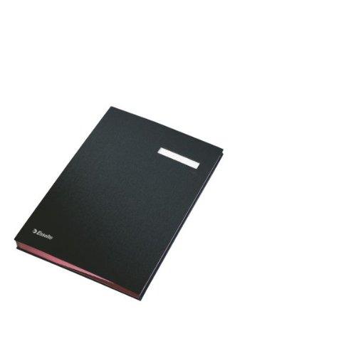 Leitz 621064 Unterschriftsmappe, 10 Fächer, Überzug PP, schwarz