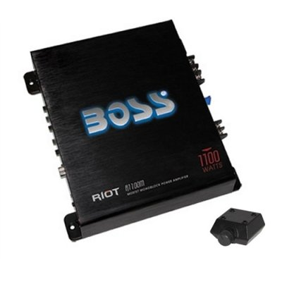 Boss R1100m 1100w Mono Block Car Audio Amplifier Amp 1100 Watt W/ Bass Knob