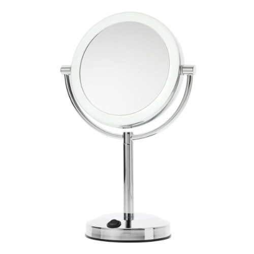 Danielle Dual Power Led 10X Magnification Vanity Mirror With Usb Plug, Chrome front-63943