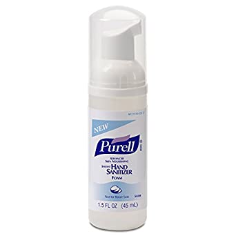 PURELL 5698-24 Advanced Skin Nourishing Instant Hand Sanitizer Foam, 45 mL Pump Bottle (Case of 24)