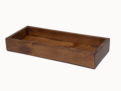 Rustic Solid Pine Bathroom Vanity Tank Top Tray Rustic