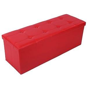 Songmics 110x38x38 cm tabouret cube pouf d pliable coffre - Gros classeur de rangement ...