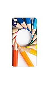 Circle Of Drawing Penciles Mobile Back Cover/Case For Lenovo K3 Note