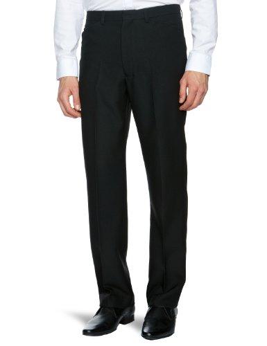 Farah Hopsack Straight Men's Trousers Black W38 INxL31 IN