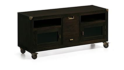 MUEBLE DE TV WENGUE MADERA DE MENDI , CASADECOR