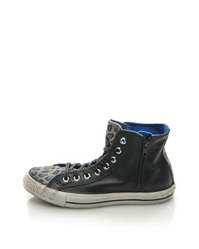 Converse Sneaker A/S Hi Side Zip Lea/Sued Print [Nero]