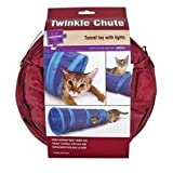 "Petlinks System Twinkle Chute Cat Tunnel, 33"" L X 9.5"" W X 9.5"" H - Colors May Vary"