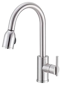 Danze D457058SS Parma Single-Handle Kitchen Faucet with Pull-Down Spout, Stainless Steel