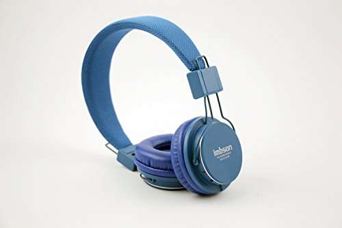 Granvela Imbson A802 Foldable Headphone Headset New Fashion Brand Music Player Wireless Handsfree Headset Headphones Earphone,Support Tf Card Fm Radio Monitor Portable Audio Pc --Deep Blue