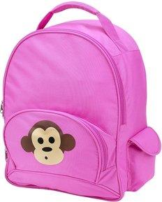 Pink Funkier Monkey School Backpack by FourPeas