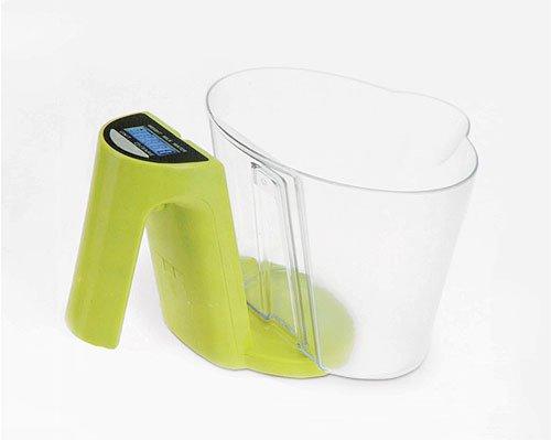 Balance de cuisine electronique avec bol 1200 ml vert