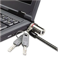 ** Microsaver Ds Ultra-Thin Laptop Lock, Silver, Two Keys ** front-977190