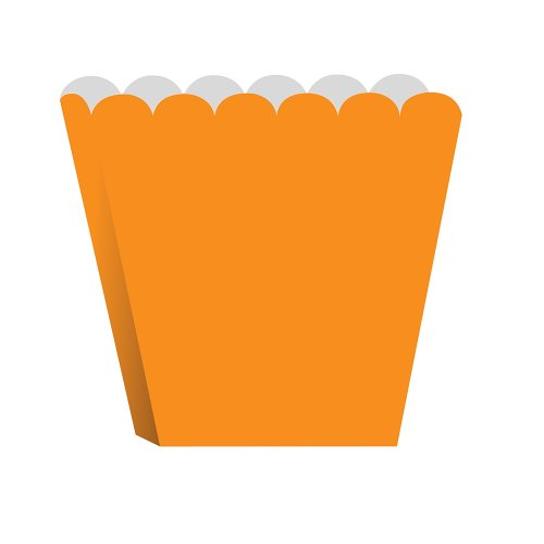 Creative Converting Treat Boxes, Orange, 8 Per Package - 1
