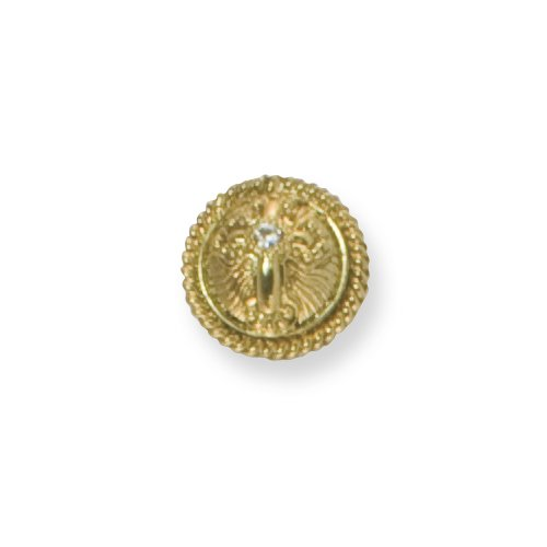 Gold-tone Crystal Cross Tie Tac