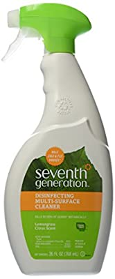 Seventh Generation Disinfecting Multi-Surface Cleaner, Lemongrass Citrus, 26 oz.