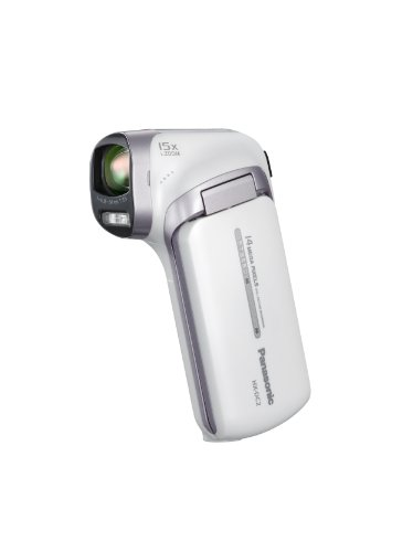 Panasonic HX-DC2EB-W Full HD MP4 Vertical Camcorder - White (14MP, 15x Intelligent Zoom, Panorama Mode, EIS, Eye-Fi Ready, SD Card Recording, Face Recognition) 3.0 inch LCD