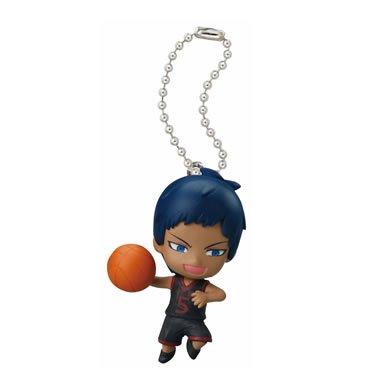 "Bandai Kuroko No Basket 3Q Swing Gashapon Keychain Figure ~1.5"" - Aomine Daiki - 1"