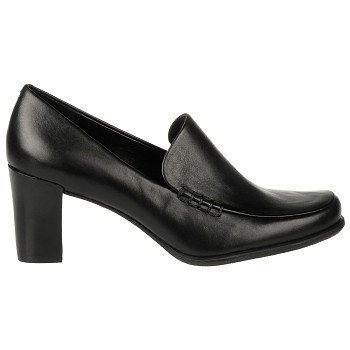 FRANCO SARTO Women's Nolan Loafer (Black Calf Leather 4.5 M)