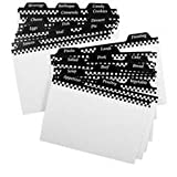 "Weatherbee 3""X5"" recipe card dividers- set of 24"