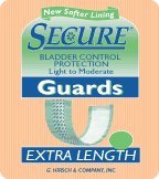 "Secure Personal Care Liners and Pads Incontinence Guards Comfortable Bladder Control Protection (3 1-2""x11 1-2"") - 1 Case of 240 at Sears.com"