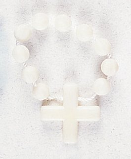 Finger Ring Rosary - Luminous with Nylon - MADE IN ITALY
