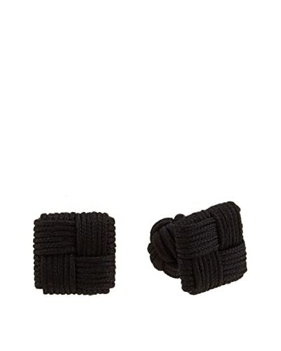 Ortiz & Reed Gemelos Multi-Color Knots Cufflinks Negro