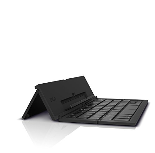 ZAGG Pocket Foldable Wireless Keyboard for Smartphones & Small Tablets Apple & Android Devices Black