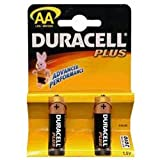 Duracell MN1500UK/B2 Duracell Plus Alkaline Battery AA Size